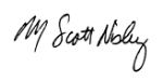 CEO's Scott Nisley's signature